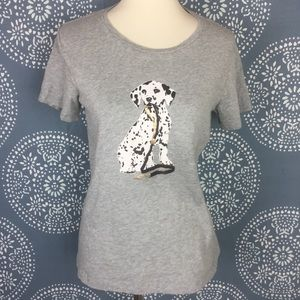 J. Crew Collector Tee Dalmatian Gray Shirt